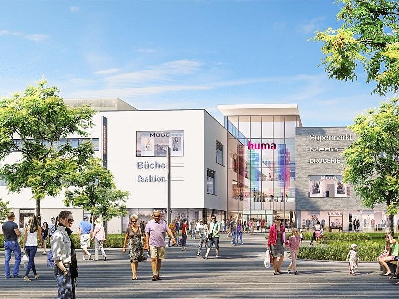 Visualisierung des huma Einkaufsparks in Sankt Augustin, © ChapmanTaylor Architekten und Generalplaner, Düsseldorf