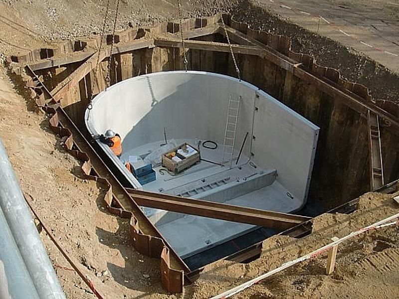 Baustelle des huma Einkaufsparks in Sankt Augustin