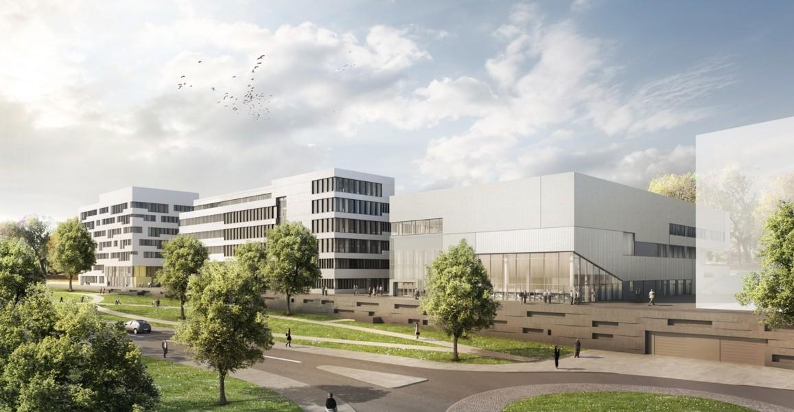 Titelbild Gesundheitscampus NRW, © léonwohlhage Gesellschaft von Architekten, Berlin